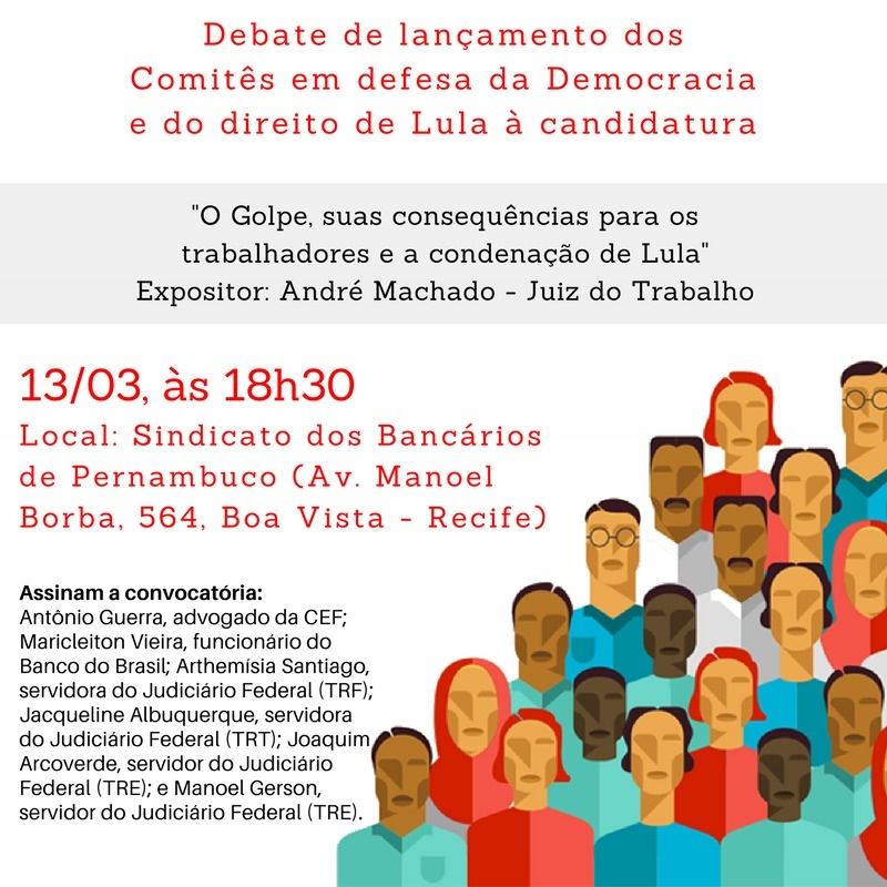 Debate Lançamento Comitês Populares recife