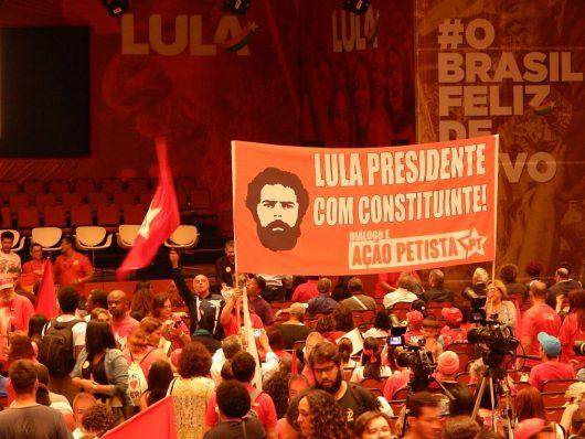 Faixa do DAP no lançamento de Lula Presidente em Contagem/MG